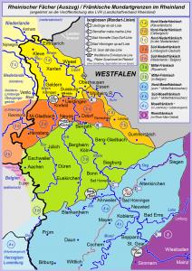 Dialektale Gliederung im Gebiet des Rheinischen Fächers http://de.wikipedia.org